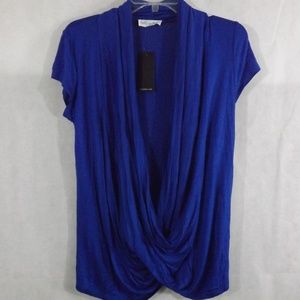 NWT Womens FREE TO LIVE Blouse - Blue - Sz MEDIUM
